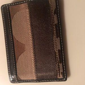 Coach money/card case